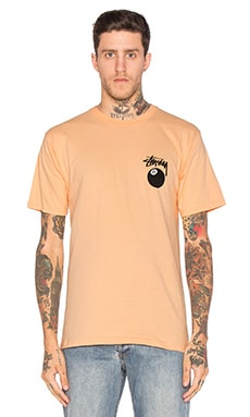 Stussy 8 Ball Tee in Peach