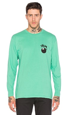 Stussy 8 Ball L/S Tee in Green
