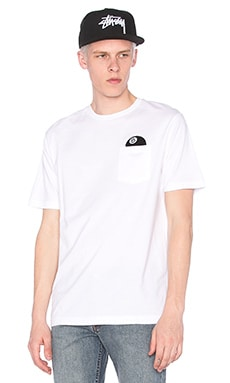 Stussy 8 Ball SS Pocket Tee in White