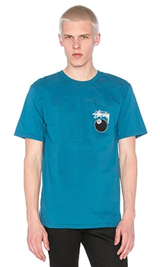 Stussy 8 Ball Tee in Blue
