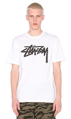 Stussy Label Stock Tee in White