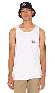 Stussy Basic Logo Tank in White