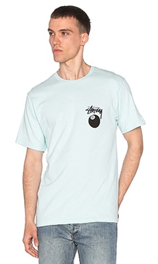 Stussy 8 Ball Tee in Light Blue