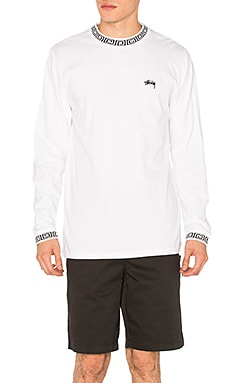 Stussy Spiral Collar Crew in White