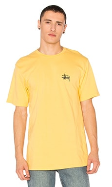 Stussy Basic Stussy Tee in Faded Yellow