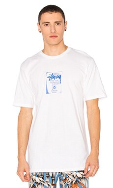 Stussy WT Stamp Tee in White