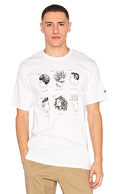 Stussy Cuts Tee in White