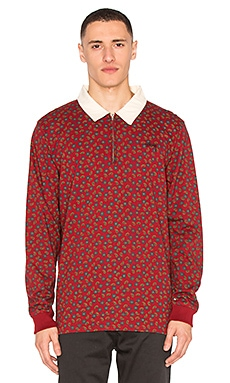 Stussy Paisley Rugby in Cardinal