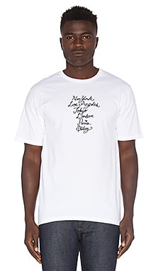 Cursive WT Tee in White