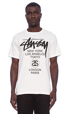 Stussy World Tour Tee in White