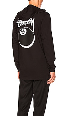 8 Ball Stipple Hooded Tee