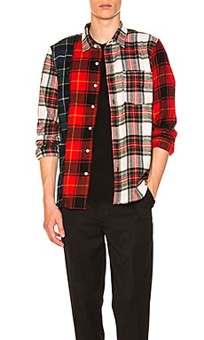 Mixed Tartan Button Down