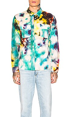 Tie Dye Work Shirt Stussy $100