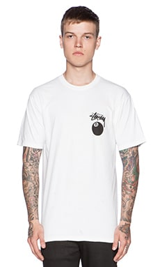 Stussy 8 Ball Tee in White