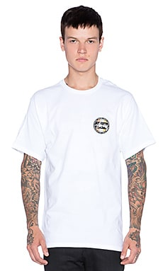 Stussy Metallic Dot Tee in White