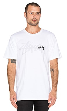 Stussy Over Stock Tee in White