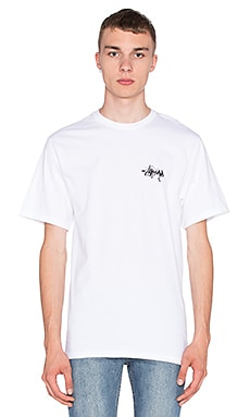 Stussy Stock Warp Tee in White