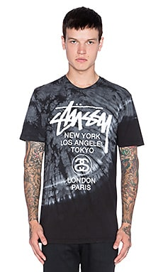 Stussy TD World Tour Tee in Grey