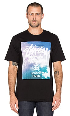 Stussy WT Clouds Tee in Black
