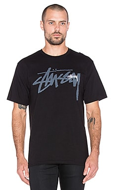 Stussy Over Stock Tee in Black