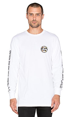 Stussy Metallic Dot Long Sleeve Tee in White