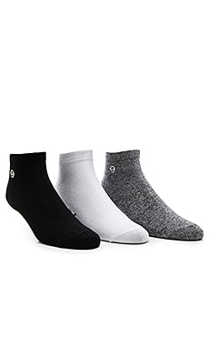 3-Pack Mini SS Link No Show Socks