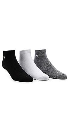 3-Pack Mini SS Link No Show Socks