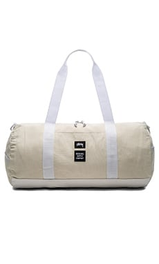 Stussy x Herschel Heavy Canvas Duffle in White