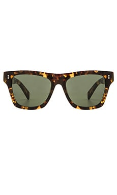 Stussy Norton Sunglasses in Tortoise-Hua/Green