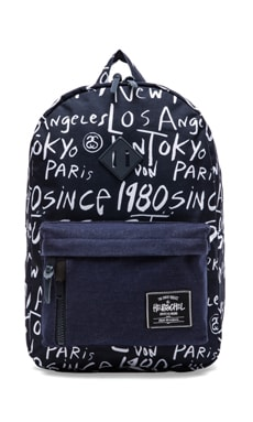 Stussy x Herschel Cities Backpack in Navy Print  db6a54ed579e8
