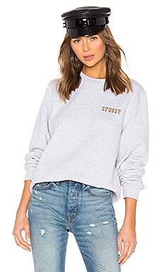 Ivy League Embroidered Crew Sweatshirt Stussy $60 NEW ARRIVAL