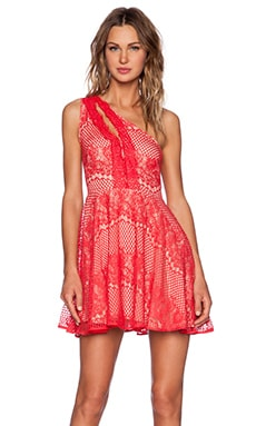 Style Stalker Elliot Circle Dress in Rose Red