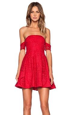 STYLESTALKER Perini Dress in Raspberry Red