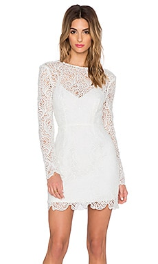 STYLESTALKER Vanity Bodycon Dress in Blanc
