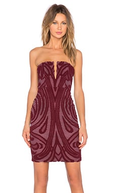 STYLESTALKER Melrose Midi Dress in Mahogany