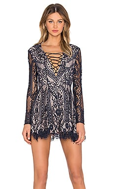 Style Stalker Vivid Long Sleeve Dress in Sapphire
