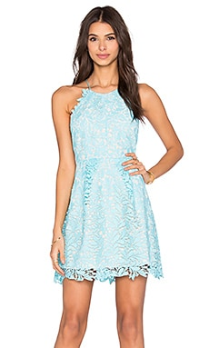 Style Stalker Viper Circle Dress in Cyan