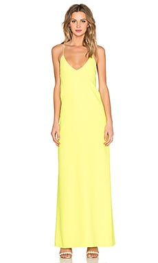 STYLESTALKER Luna Maxi Dress in Citron