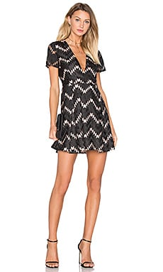 Miranda A Line Dress in Noir