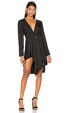 Maia Long Sleeve Dress in Noir