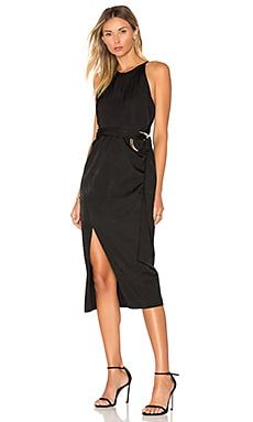 Maia Midi Dress in Noir