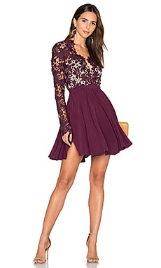 Rosale Dress in Plum