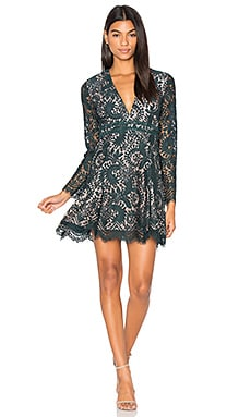 Davis Long Sleeve Dress in Peacock
