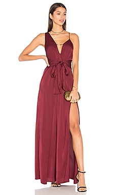 Kesen Maxi Dress in Aubergine