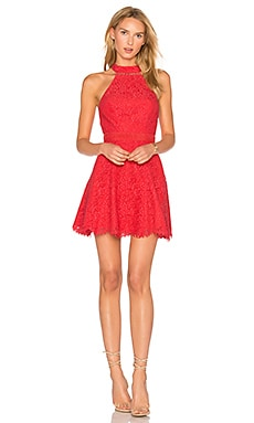 Sabine Mini Dress in Coral
