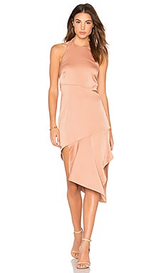 Rhea Midi Dress in Nude