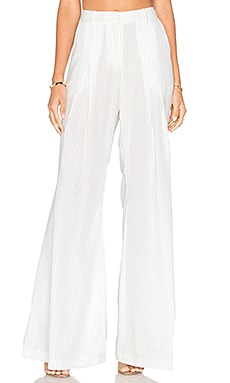 Odysseus Pant in White Stripe Print