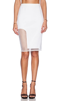 Style Stalker Getaway Pencil Skirt in White