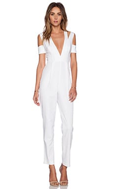 Style Stalker Island Fever Jumpsuit in White