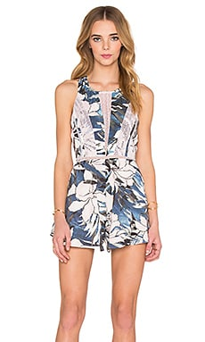 STYLESTALKER  Hawaiian Sunset Romper in Hawaiian Sunset